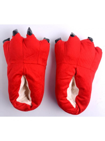 Red Unisex Plush Paw Claw House Slippers Animal Costume Shoes