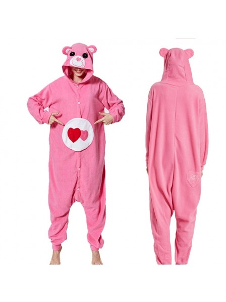 Rose Care Bear Onesie Pajamas Animal Onesies for Adult & Teens