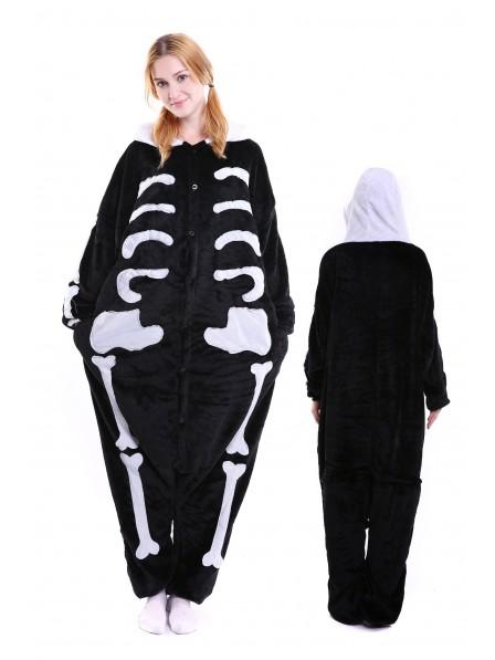 Skeleton Kigurumi Onesie Pajamas Soft Flannel Unisex Animal Costumes