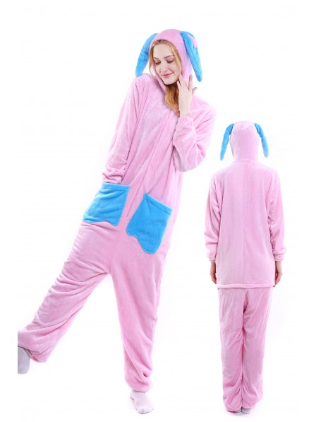 Rabbit Kigurumi Onesie Pajamas Soft Flannel Unisex Animal Costumes