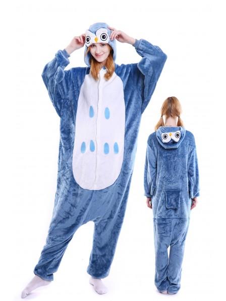 Owl Kigurumi Onesie Pajamas Soft Flannel Unisex Animal Costumes