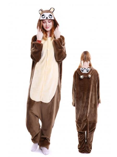 Monkey Kigurumi Onesie Pajamas Soft Flannel Unisex Animal Costumes
