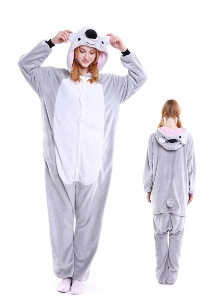 Koala Kigurumi Onesie Pajamas Soft Flannel Unisex Animal Costumes