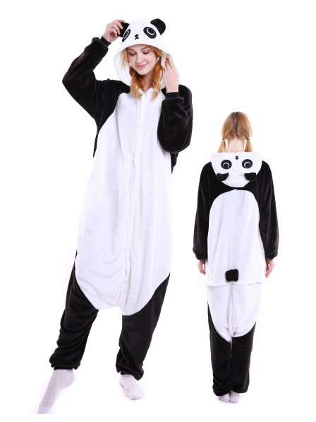 Panda Kigurumi Onesie Pajamas Soft Flannel Unisex Animal Costumes
