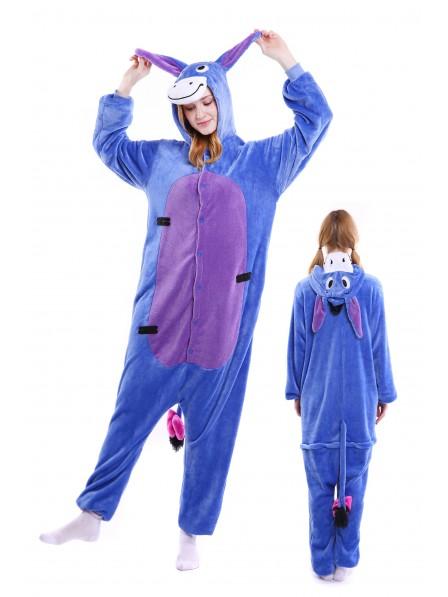 Donkey Kigurumi Onesie Pajamas Soft Flannel Unisex Animal Costumes