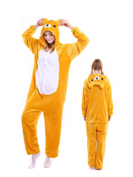 Rilakkuma Kigurumi Onesie Pajamas Soft Flannel Unisex Animal Costumes