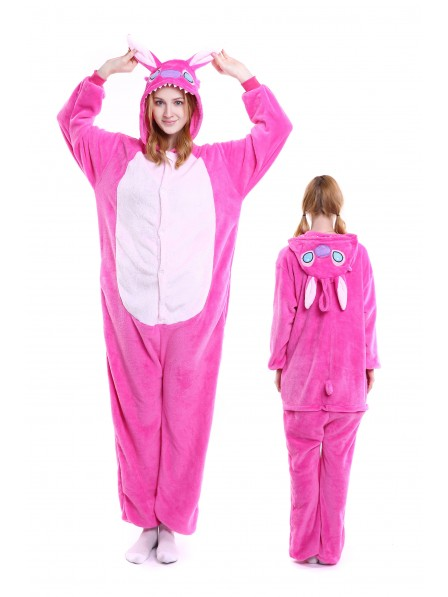 3ad5173984 Pink Stitch Kigurumi Onesie Pajamas Soft Flannel Unisex Animal Costumes