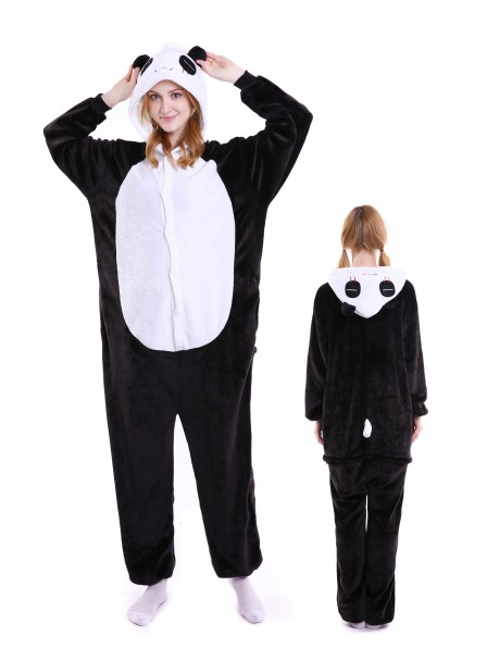 Pandas Kigurumi Onesie Pajamas Soft Flannel Unisex Animal Costumes