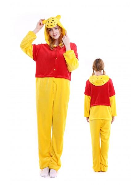 Winnie the Pooh Kigurumi Onesie Pajamas Soft Flannel Unisex Animal Costumes
