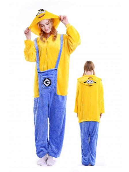 Minions Kigurumi Onesie Pajamas Soft Flannel Unisex Animal Costumes