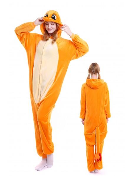 Charmander Kigurumi Onesie Pajamas Soft Flannel Unisex Animal Costumes