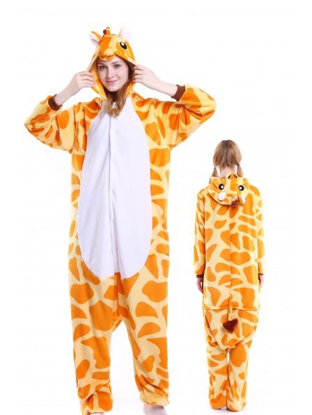 35f56db769 Giraffe Kigurumi Onesie Pajamas Soft Flannel Unisex Animal Costumes ...