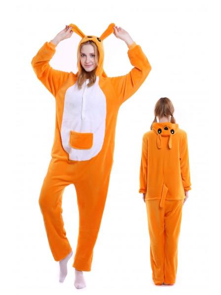 773f5931e42a Kangaroo Kigurumi Onesie Pajamas Soft Flannel Unisex Animal Costumes ...