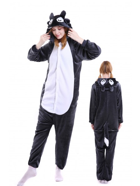Wolf Kigurumi Onesie Pajamas Soft Flannel Unisex Animal Costumes