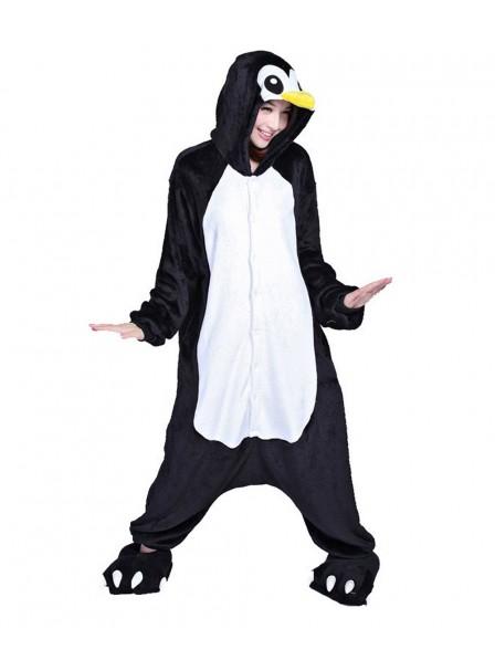 Penguin Kigurumi Onesie Pajamas Soft Flannel Unisex Animal Costumes