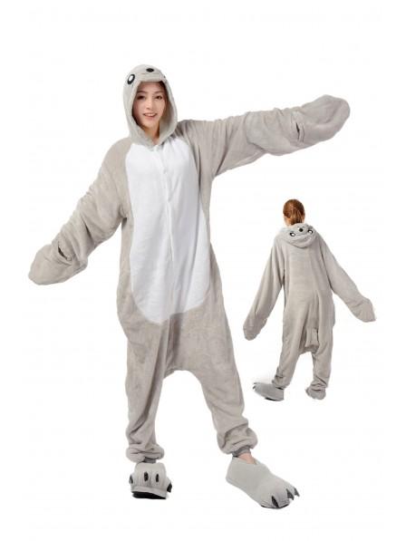 Seal Kigurumi Onesie Pajamas Soft Flannel Unisex Animal Costumes