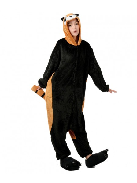 Red Panda Kigurumi Onesie Pajamas Soft Flannel Unisex Animal Costumes