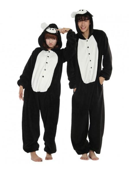 Black Pig Kigurumi Onesie Pajamas Soft Flannel Unisex Animal Costumes