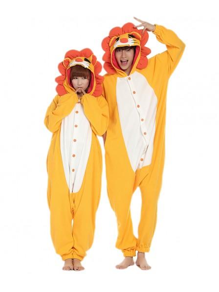 Lion Kigurumi Onesie Pajamas Soft Flannel Unisex Animal Costumes