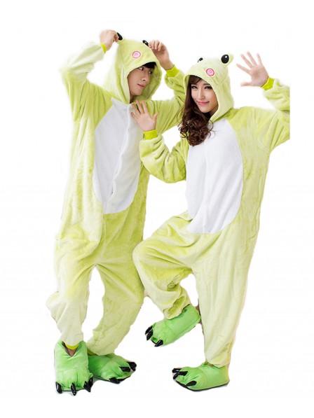 Frog Kigurumi Onesie Pajamas Soft Flannel Unisex Animal Costumes