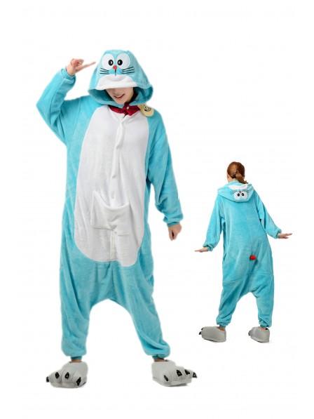 Doraemon Kigurumi Onesie Pajamas Soft Flannel Unisex Animal Costumes