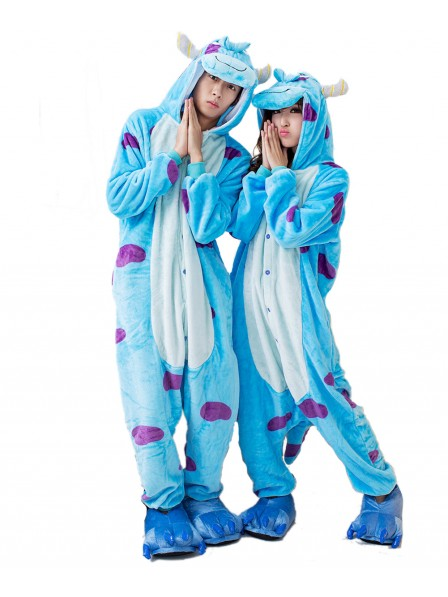 Sullivan Kigurumi Onesie Pajamas Soft Flannel Unisex Animal Costumes