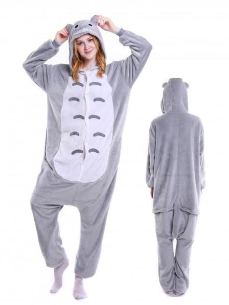 Totoro Kigurumi Onesie Pajamas Soft Flannel Unisex Animal Costumes