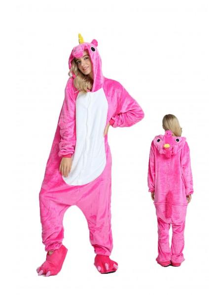 Rose Unicorn Kigurumi Onesie Pajamas Soft Flannel Unisex Animal Costumes