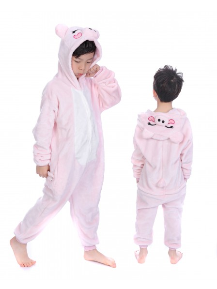 Pink Pig Onesie Kigurumi Pajamas Kids Animal Costumes For Teens