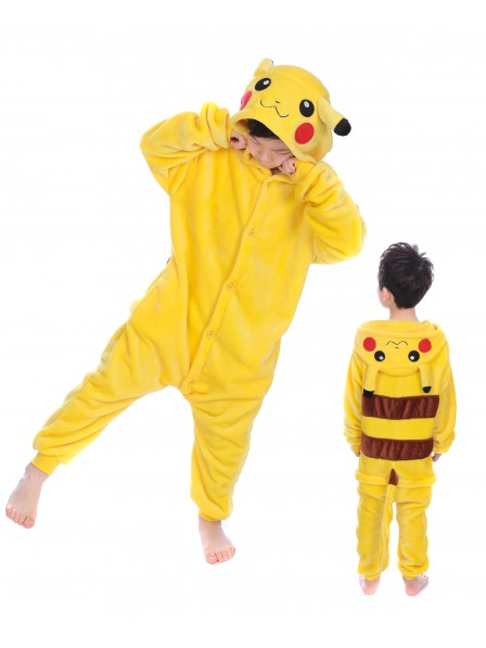 Pikachu Onesie Kigurumi Pajamas Kids Animal Costumes For Teens