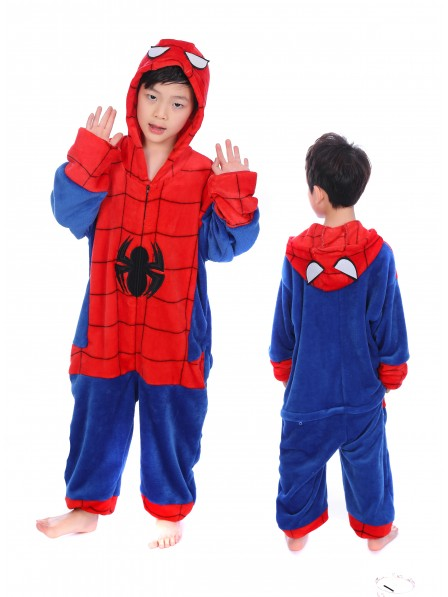 Spider-Man Onesie Kigurumi Pajamas Kids Animal Costumes For Teens
