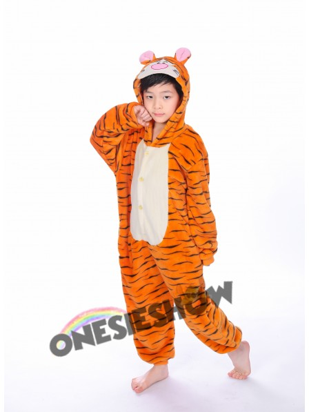 86b9b5f0bc Winnie the Pooh Tigger Onesie Kigurumi Pajamas Kids Animal Costumes For  Teens