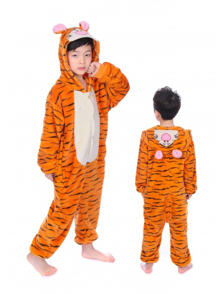 f861f8f65 Winnie the Pooh Tigger Onesie Kigurumi Pajamas Kids Animal Costumes ...