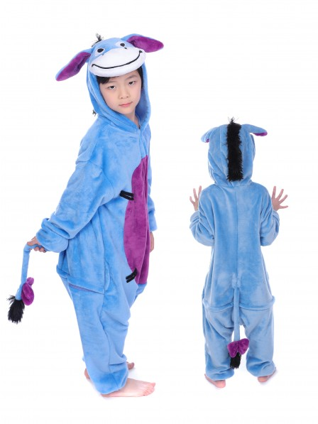 Donkey Onesie Kigurumi Pajamas Kids Animal Costumes For Teens