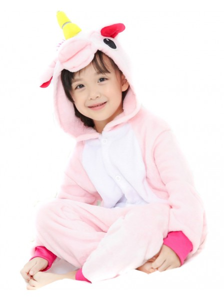 Pink Unicorn Onesie Kigurumi Pajamas Kids Animal Costumes For Teens