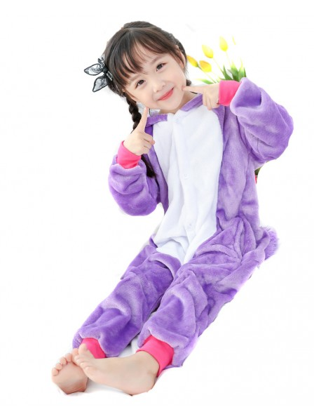 Purple Unicorn Onesie Kigurumi Pajamas Kids Animal Costumes For Teens