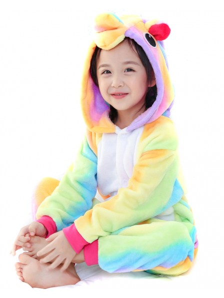 Rainbow Unicorn Onesie Kigurumi Pajamas Kids Animal Costumes For Teens