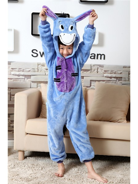 Donkey Onesie Kigurumi Pajamas Kids Animal Costumes For Teens