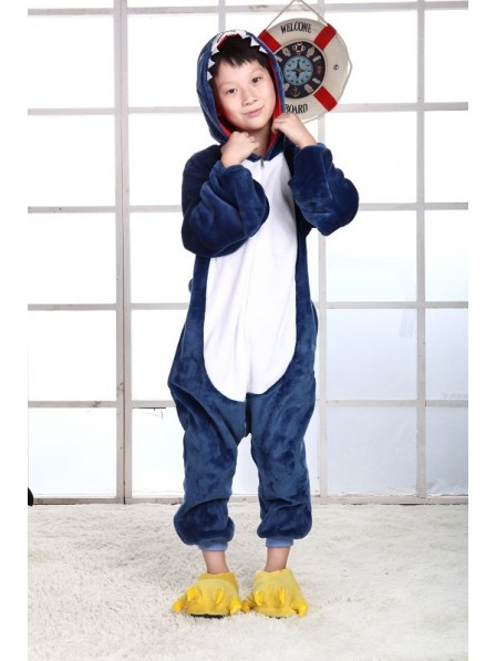 Shark Onesie Kigurumi Pajamas Kids Animal Costumes For Teens