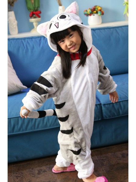 Cheese Cat Onesie Kigurumi Pajamas Kids Animal Costumes For Teens