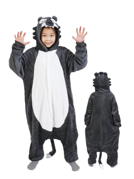 Wolf Onesie Kigurumi Pajamas Kids Animal Costumes For Teens