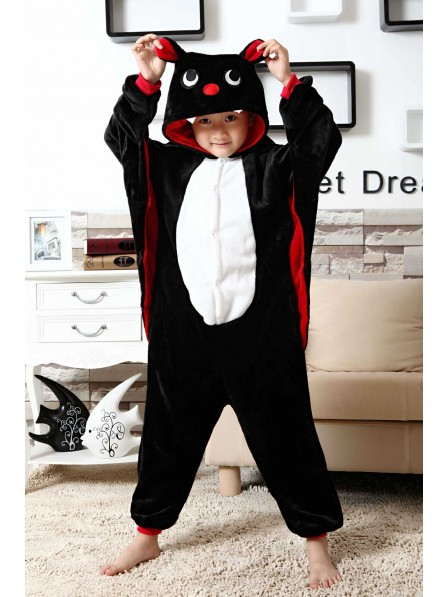Bat Onesie Kigurumi Pajamas Kids Animal Costumes For Teens