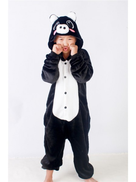 Black Pig Onesie Kigurumi Pajamas Kids Animal Costumes For Teens