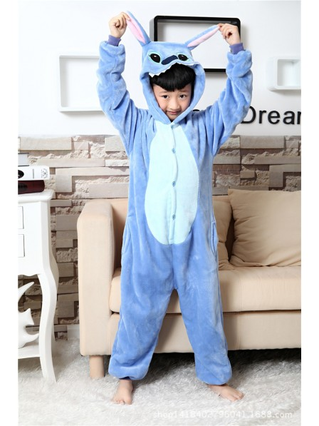 Blue Stitch Onesie Kigurumi Pajamas Kids Animal Costumes For Teens