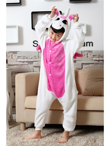 Rose Unicorn Onesie Kigurumi Pajamas Kids Animal Costumes For Teens
