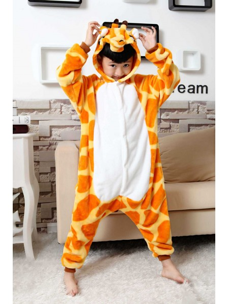 Giraffe Onesie Kigurumi Pajamas Kids Animal Costumes For Teens