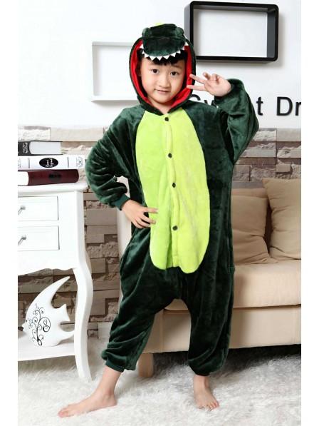 Green Dinosaur Onesie Kigurumi Pajamas Kids Animal Costumes For Teens