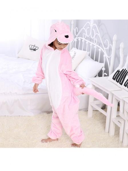 Pink Dinosaur Onesie Kigurumi Pajamas Kids Animal Costumes For Teens
