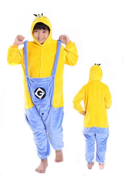 Minions Onesie Kigurumi Pajamas Kids Animal Costumes For Teens