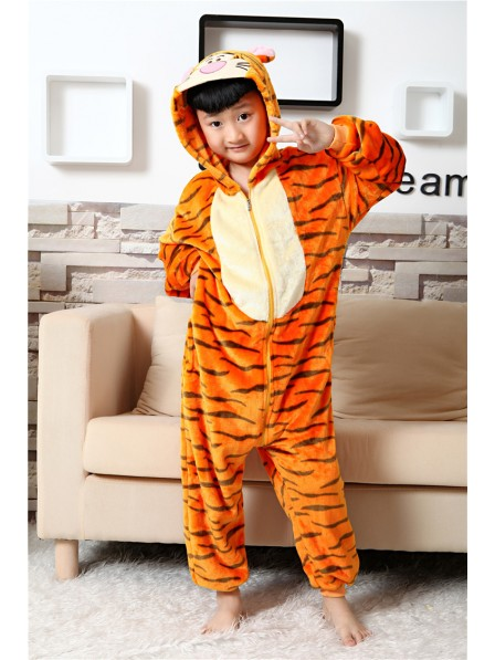 Tigger Onesie Kigurumi Pajamas Kids Animal Costumes For Teens